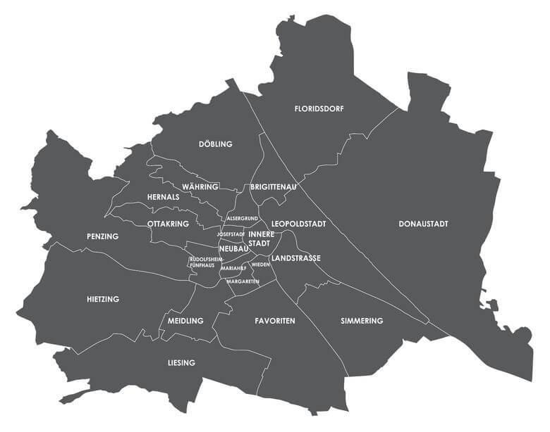 Einsatzgebiet vom Schlüsseldienst Wien